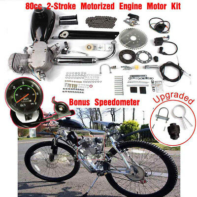 80CC 2-Stroke MOTOR ENGINE KIT GAS for MOTORIZED BICYCLE CYCLE BIKE SPEEDOMETER