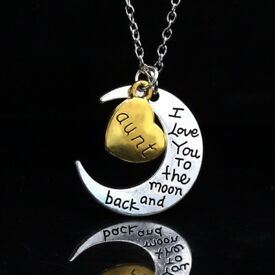 10x To the Moon and Back Necklaces brand new Job Lot Car Boot Wholesale FREE DELIVERY
