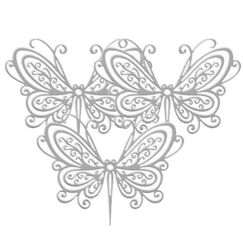 Butterfly Metal Cutting Dies Embossing Molds Scrapbook Album Crafts F4M3