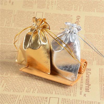 100Großhandel Organza Hochzeit Party Favor Candy Bag Schmuck Verpackung Geschenk ()