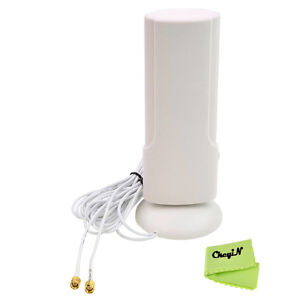 Dual SMA Interface LTE External Antenna Booster 38dBi for Wi-Fi 4G Mobile Router