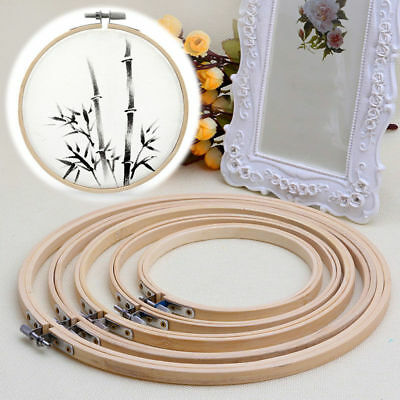 Wooden Cross Stitch Tool Embroidery Hoop Ring Frame Sewing Needle Craft DIY - Craft Frames