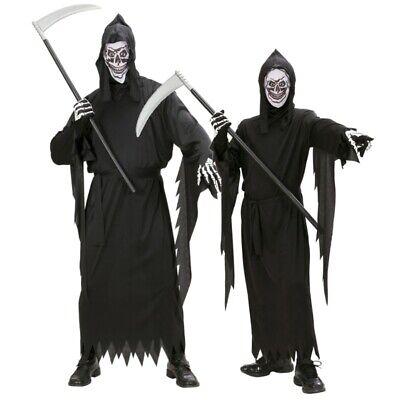 TOD SENSENMANN KOSTÜM mit MASKE Kinder und Erwachsenen Partnerkostüm - (Maske Und Kostüm)