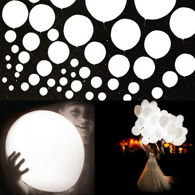 Led Party Lights for Paper Lantern Balloons Floral Party Decor Waterproof White  - Led Paper