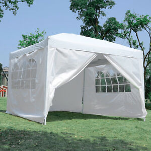 2 Size Available 10x10ft & 10x15ft Popup Party Tent with 4 Walls