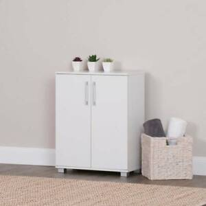 Double Door Cupboard Cabinet w/ 3 Shelves in White Sydney City Inner Sydney Preview