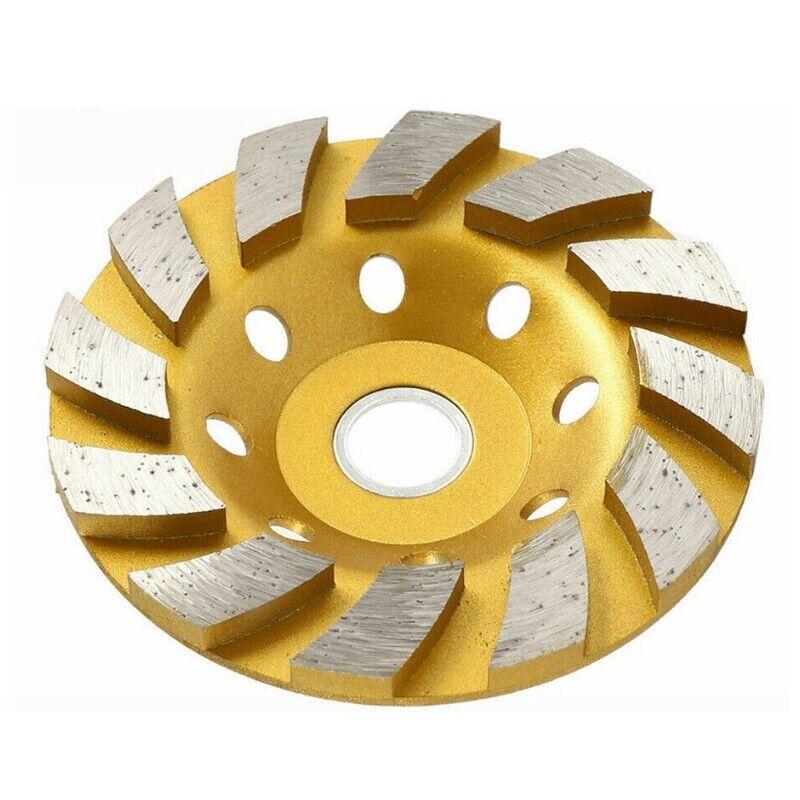 "100mm 4"" Gold Diamond Segment Bowl Cup Grinding Wheel Concrete Grinder Disc Cut"