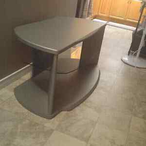 Wood and Glass TV Stand Stratford Kitchener Area image 1