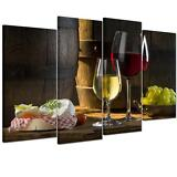 Framed Ready To Hang Canvas Print Decor Wall Art Painting Picture Wine & Cake
