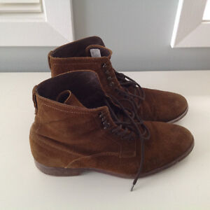 Men's Lace-up Leather Boots (chocolate brown) London Ontario image 1