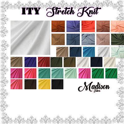 ITY Stretch Jersey Knit Fabric Interlock Twist Yarns ITY - 200 GSM Style 0450