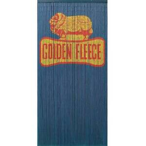 Golden Fleece Bamboo Door Curtain Hand Painted Both sides - Home Seville Grove Armadale Area Preview