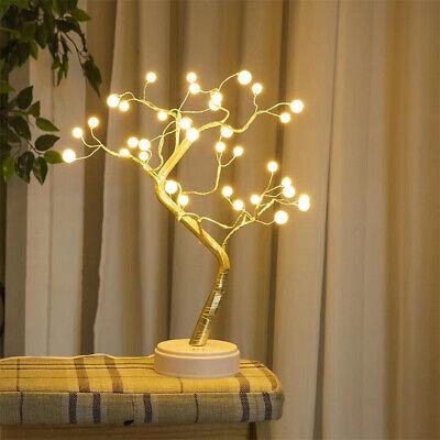 Lighting Modern Berries - 36/108 LED White Berry Bonsai Table Tree Sentik Modern Fairy Twig Lights Lamps
