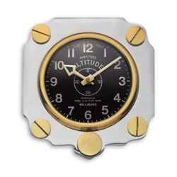 PENDULUX ALTIMETER WALL CLOCK ALUMINUM -WCALTAL