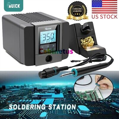 Quick Ts 120w 1200a Lcd Touch Display Soldering Station For Phone Pcb Ic Rework