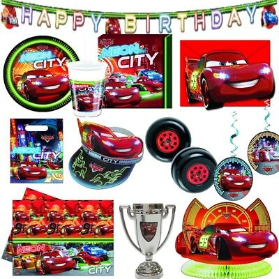 CARS NEON CITY Disney Kindergeburtstag Motto Kinderparty Geburtstag Party Deko ()