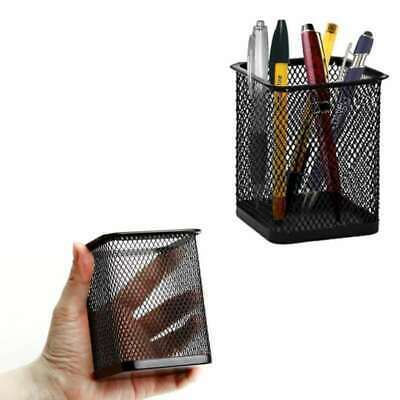 Black Square Mesh Desk Pen Pencil Organiser Cup Holder Office School Supplier