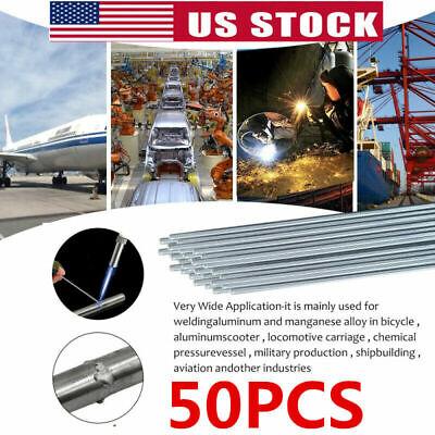 Us 50pcs Easy Melt Welding Rods Low Temperature Aluminum Wire Brazing 3mm X 50cm