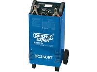 Draper BCS600T Expert 12V/24V 500A Battery Starter Charger Car Van RRP £500 HEAVY DUTY