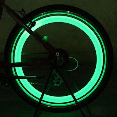 2Pcs Neon LED Reifen Auto Fahrrad Rad Licht Lampe Ventilkappe Ventil Leucht P5A1 Led Reifen Lampen