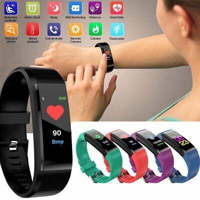 115Plus Bluetooth Smartwatch Schrittzähler Armbanduhr Sport Fitness Tracker Neu