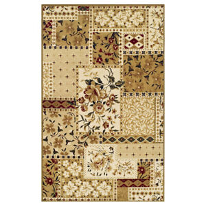 Flower Patch Collection Area Rug, Beautiful Floral Patchwork