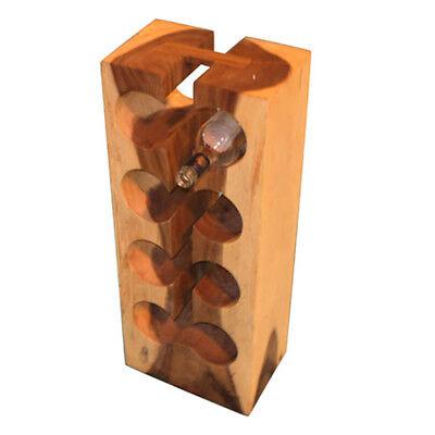 Teak Wooden Tree Wine Bottle Rack Intro 8 Hole Furniture 27x20x70cm Natural 20 Bottle Wine Furniture
