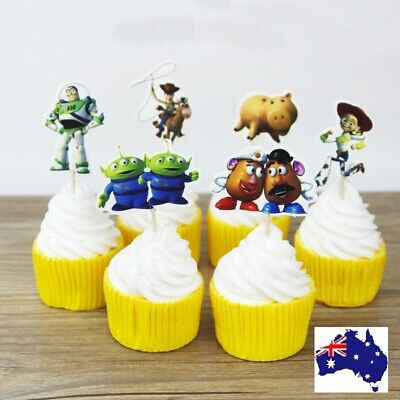 12 X DISNEY TOY STORY Cupcake Jelly Cup toppers Fruit picks Birthday Party Fun