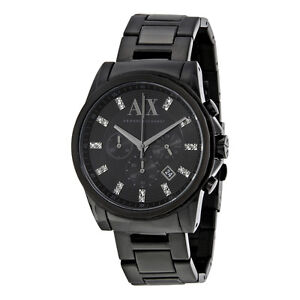 ARMANI EXCHANGE Men's Banks Stainless Steel Black Watch West Island Greater Montréal image 1