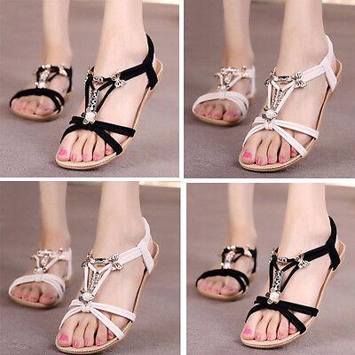 Women Flip Flops Flat Shoes Sandals Summer Beach Casual Sandals Boho Slippers