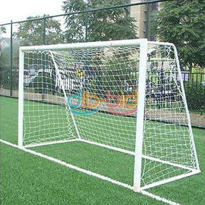 10x6.5ft Full Size Football Goal Post Net Sports Match Training Junior Soccer HK