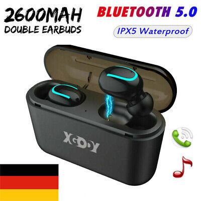 Drahtlose Bluetooth-Kopfhörer 5.0 Headset TWS Twins Earbuds 5D Stereo-Kopfhörer