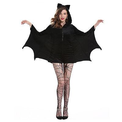 Frauen Vampir Batgirl Schläger Kostüm Erwachsene Cosplay Halloween Kleid