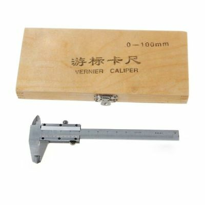 Mini Vernier Caliper 0-100mm Guage Pocket Stainless Steel Metric Machinist