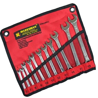 11PC metric ring spanner combination TOOL SET 6 7 8 9 10 11 12 13 17 19mm roll