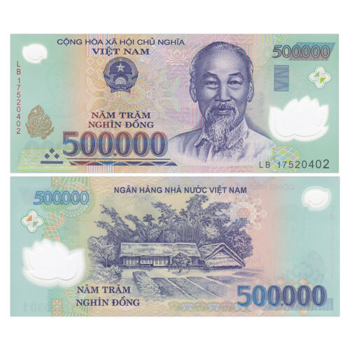 Vietnam 500000 500,000 Dong, Polymer, 2016-2018, P-124 New, Banknote, UNC