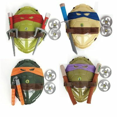 Teenage Mutant Ninja Turtles Cosplay set shell & weapons action toys Raphael ()