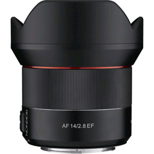 Rokinon 14mm f2.8 AF Canon EF mount - new in box
