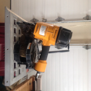 Bostitch-N80cb, coil-fed contact-trip pneumatic nailer.
