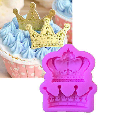 Crown from Princess Queen 3D Silicone Mold Fondant Cake Cupcake Decorate Tool LY