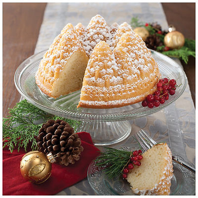 NEW NORDIC WARE PLATINUM PINE FOREST BUNDT CAKE PAN JELLO MOLD CHRISTMAS HOLIDAY Nordic Ware Nordic Ware Bundt