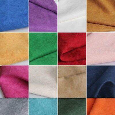 Faux Suede Fabric DIY Suedette Material Upholstery Cushion Sofa Plain Dressmaker