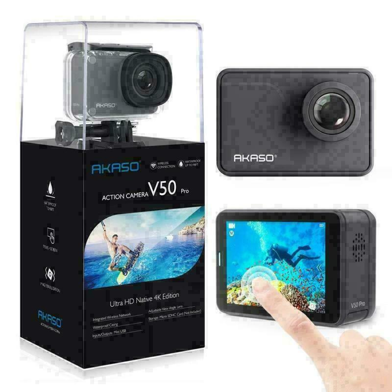 AKASO V50 Pro Action Camera 4K 30fps 20MP Camcorder Touch Screen | Refurbished