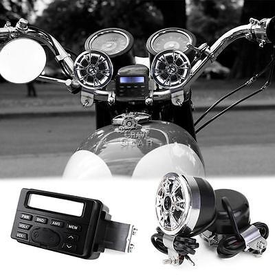 Waterproof Radio FM FMP3 Speakers Stereo For Honda VTX 1300 C R S RETRO New