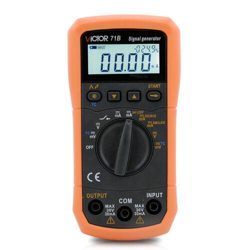 DC V/mA Thermocouple K/E/J/T/B/R/S/N Signal Generator Source Simulator 24V Loop