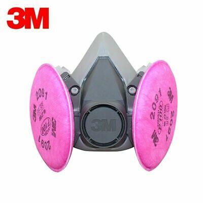 3M 6200 Facepiece Reusable Respirator M Size w/ 2091 Filters 6291 USA Seller