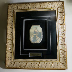 Original Paining Fresco Madonna Cherubs Colacci Baroque Picture