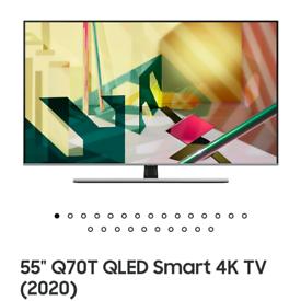 Samsung 55 q70t qled 4k smart tv brand new boxed call 07550365232