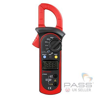 NEW Genuine UNI-T UT202A Digital Clamp Meter - AC, Resistance, Frequency / UK
