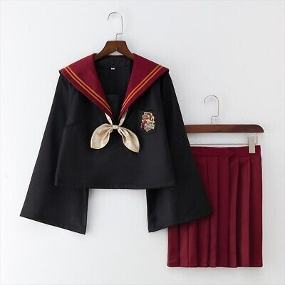 Harry Potter Sailor Fuku Outfit Gryffindor Japanese Cosplay - Gryffindor Outfit